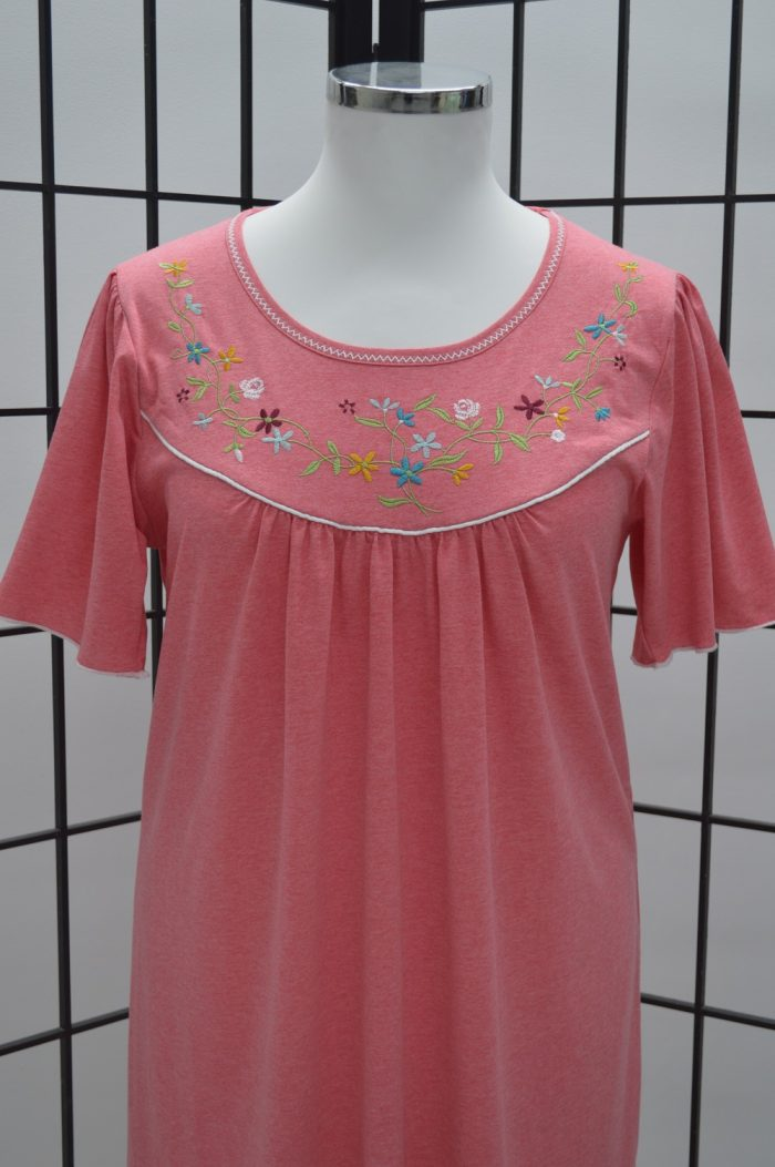 Camisa de dormir mangas borboleta coral