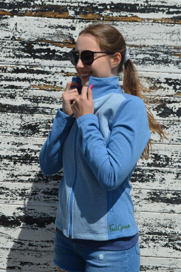 Casaco feminino outdoor azulina