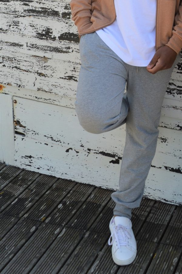 Calças Streewear para homem FeelGreen, cinza