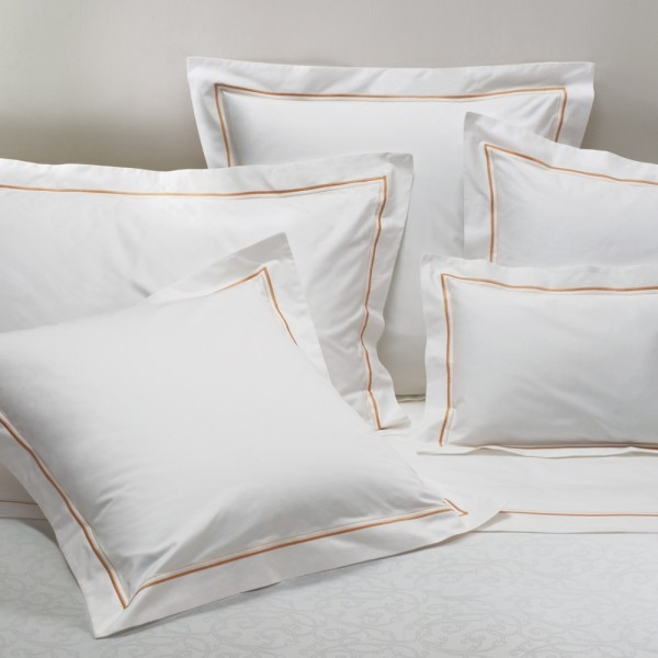 Pillow cases with single satin stitching