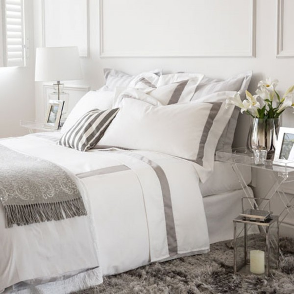 Set of bed sheets and duvet cover in high quality fabric Percale 100% cotton