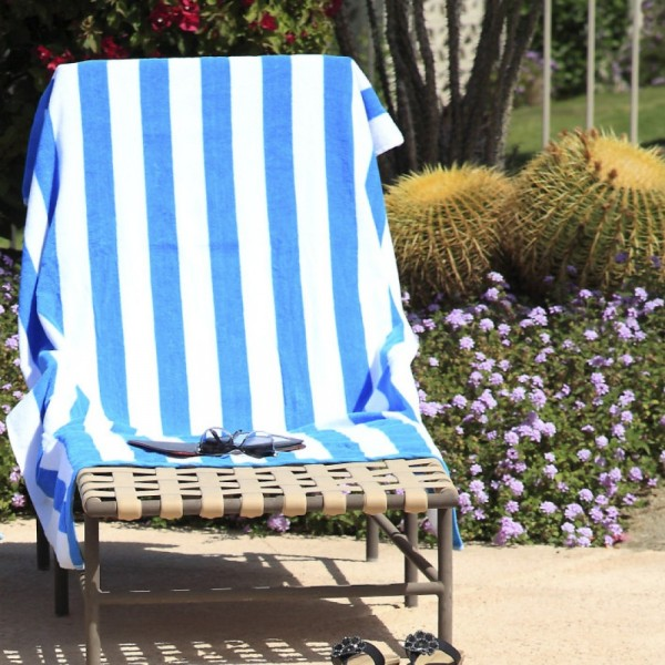 100% cotton pool or spa towels.